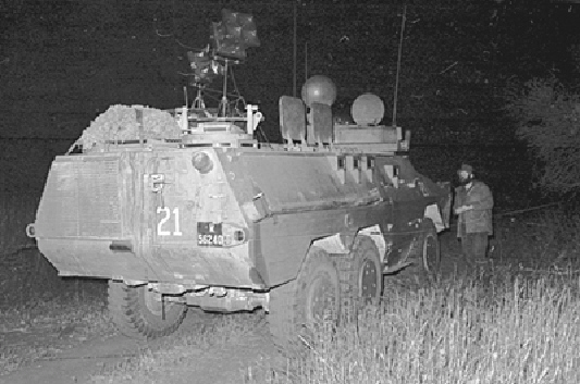 Ratel 21 equipped with ground shout speakers used to upset the SWAPO infiltrators (Photo: SANDF Documentation Centre)