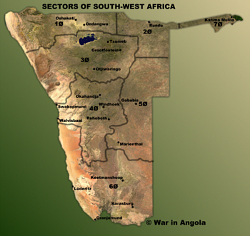 The Military Sectors of South-West Africa