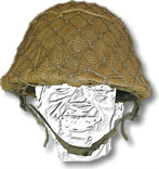 South African Army Steel Helmet with Hessian Cover
